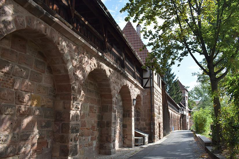 Stadtmauer in Nuernberg