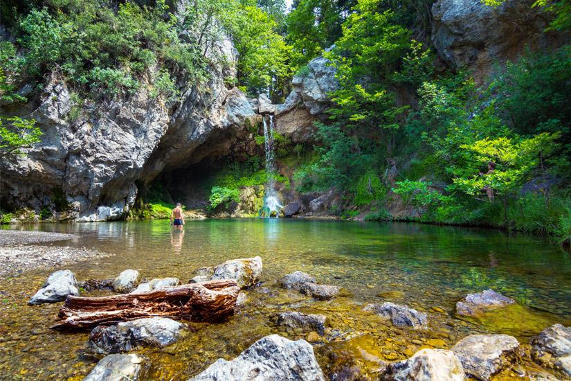 Drymonas Wasserfälle auf Euböa