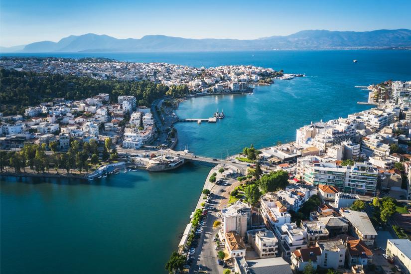 Hafenstadt Eretria auf Euboea