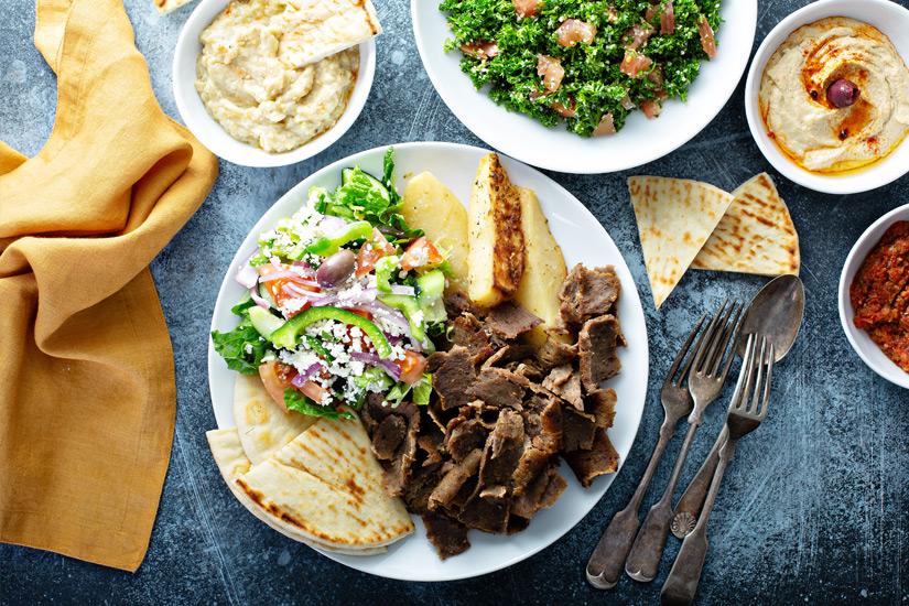 Gyros, Pita, Salat