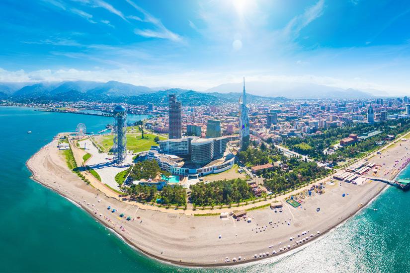 Batumi aus der Luftperspektive
