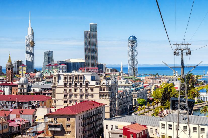 Skyline von Batumi im Sommer