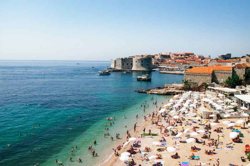 Banje Beach, Stadtstrand Dubrovnik