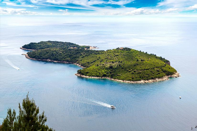 Blick auf die Insel Lokrum