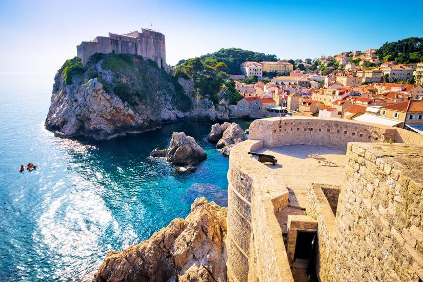 Bucht von Dubrovnik im Sommer