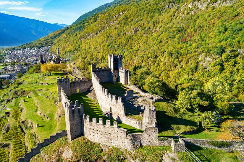 Burg im Park der Felsbilder von Grosio