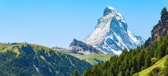Kanton Wallis in den Schweizer Bergen