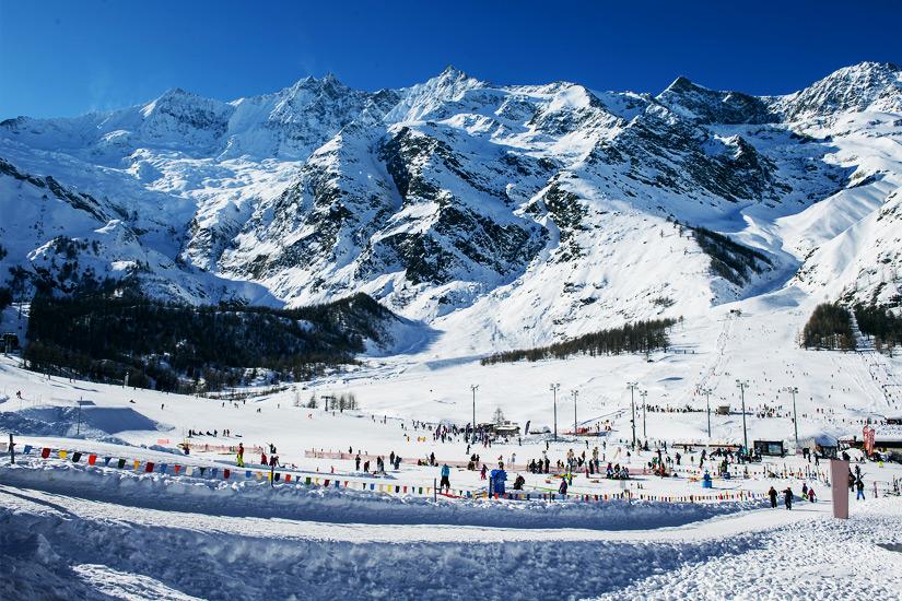 Skigebiet Saas Fee im Wallis