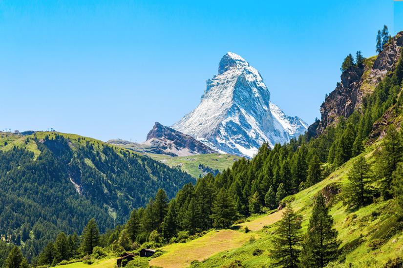 Blauer Himmel am Matterhorn