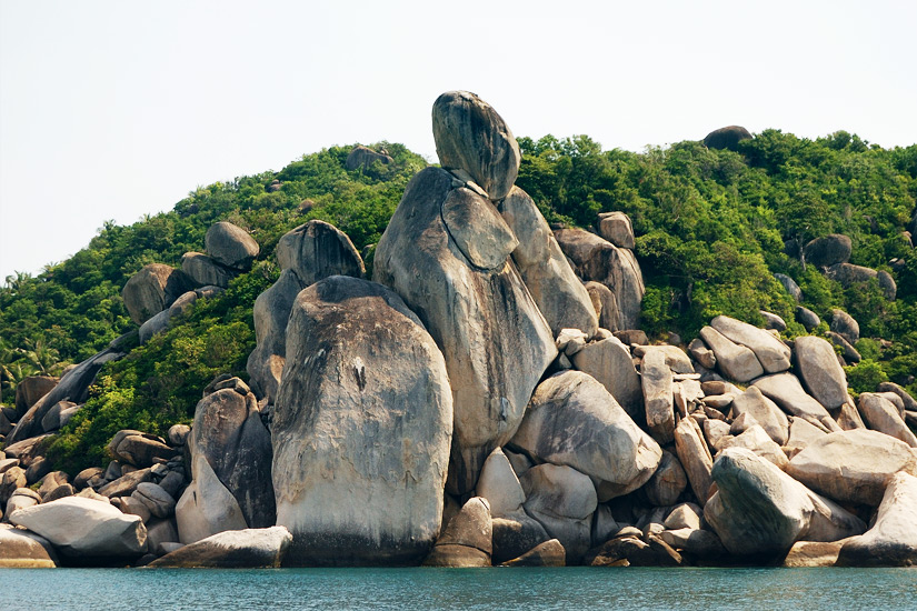 Die Felsformation Taa Toh Rock