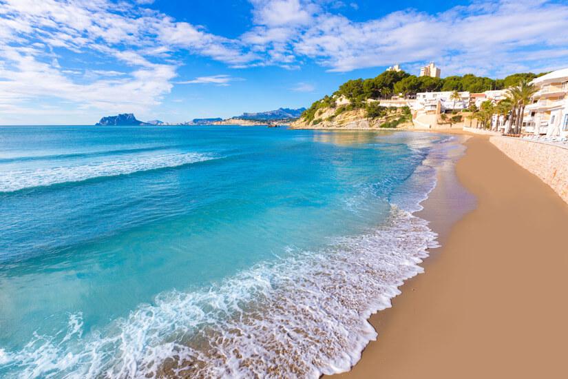Geformt wie eine Muschel Playa del Portet