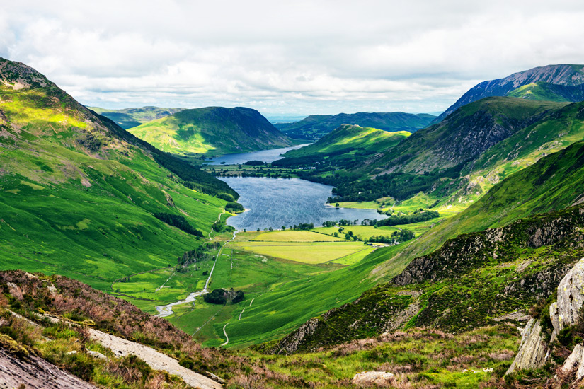Buttermere Lake and Crummock Water im Lake District Nationalpark