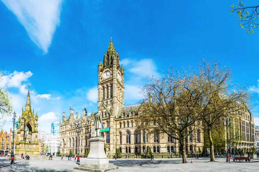 Das Rathaus in Manchester
