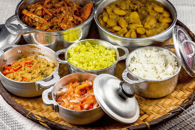 Reis und andere inseltypische Gerichte