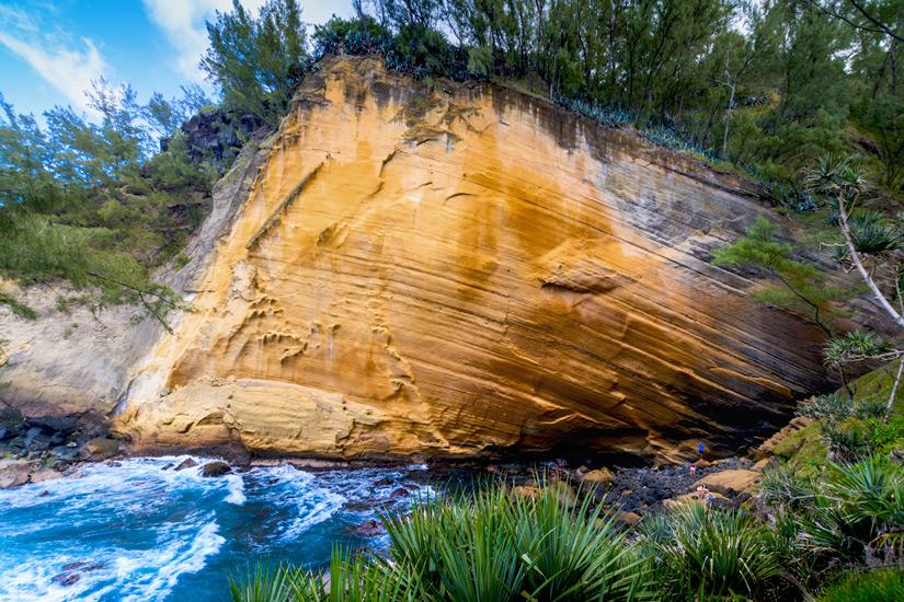 Der Felsen von Le Cap Jaune