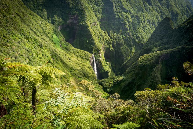 Wasserfall im Trou de Fer