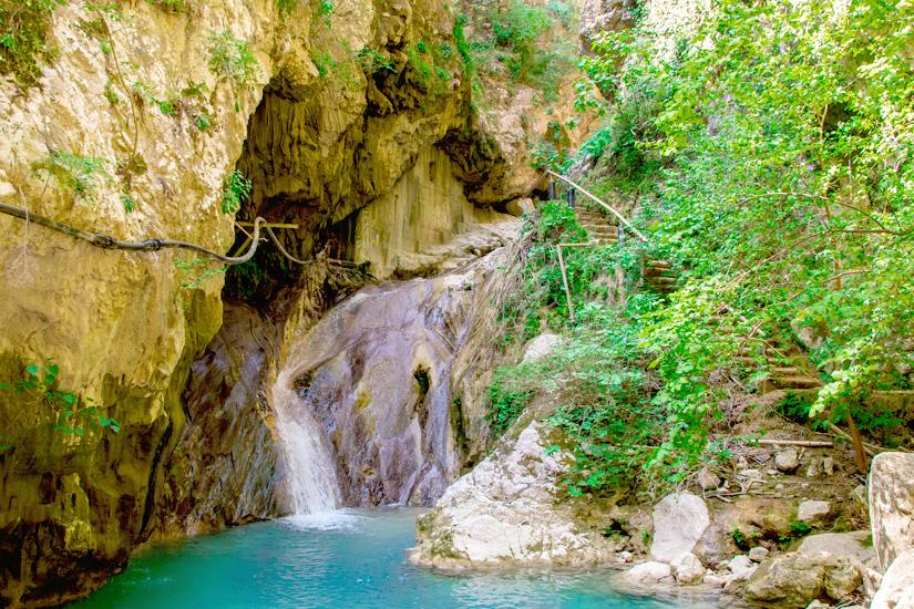 Wasserfall in der Dimosari-Schlucht