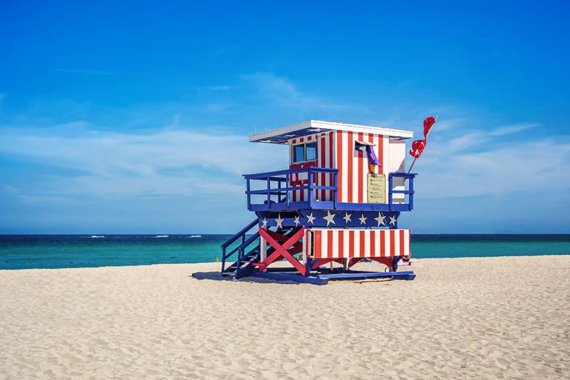 Rettungsschwimmer-Haus-Miami