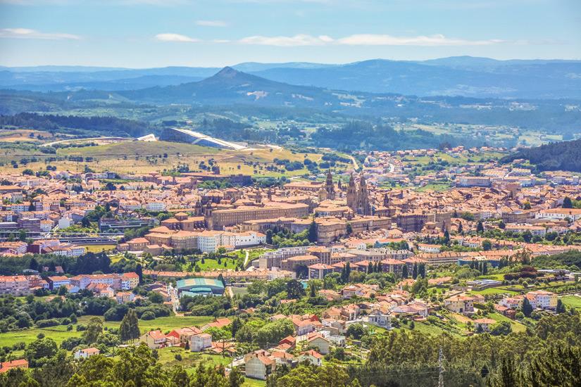 Blick auf Santiago de Compostela