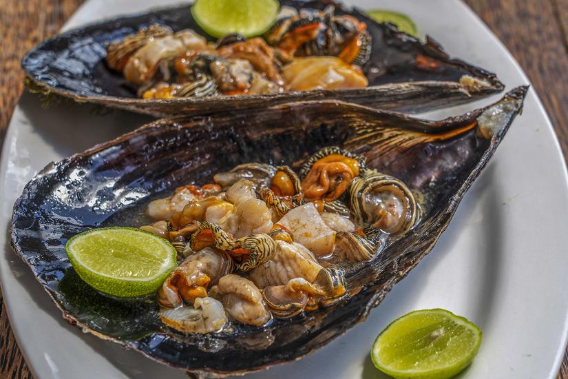 Muschelteller auf Sansibar