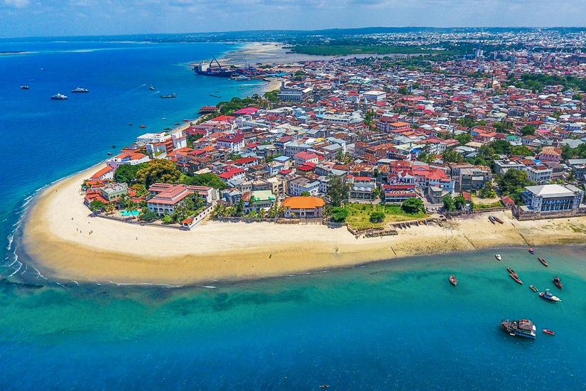 Luftaufnahme von Stone Town