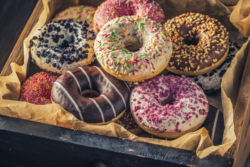 Frittierte-Donuts