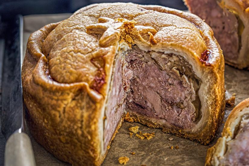 Pork Pies sind Schweinefleisch Pasteten