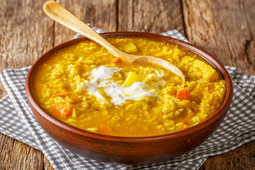 In die englische Kueche integriert Mulligatawny Soup