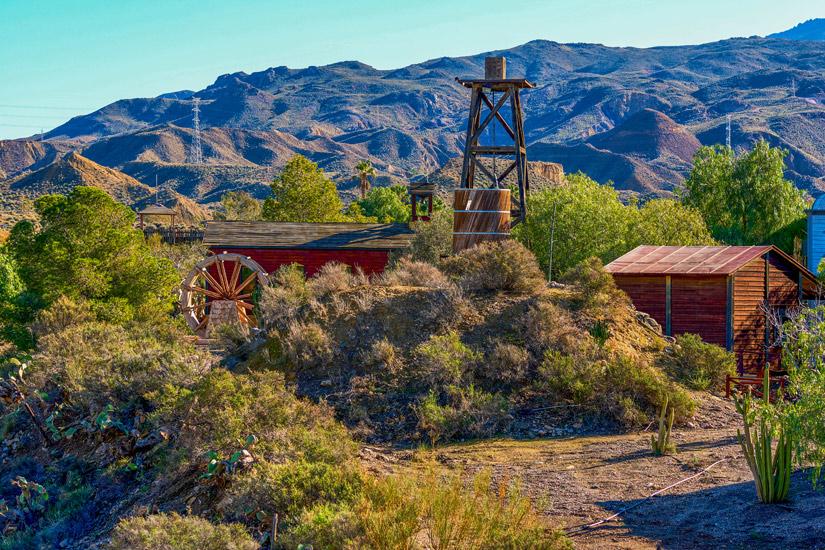 Wild West Kulisse im Oasys Mini Hollywood