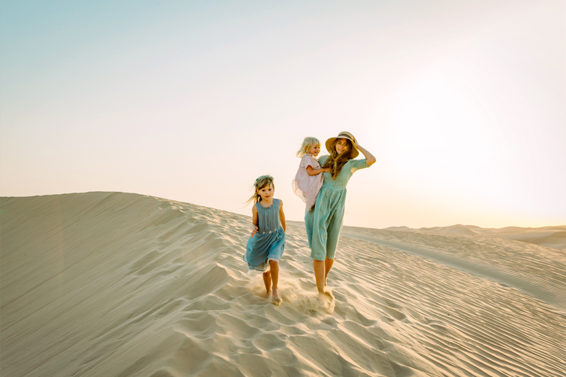 Dubai-Wueste-Kinder