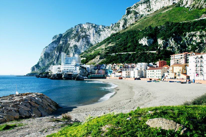 Das Dorf Catalan Bay und sein Strand