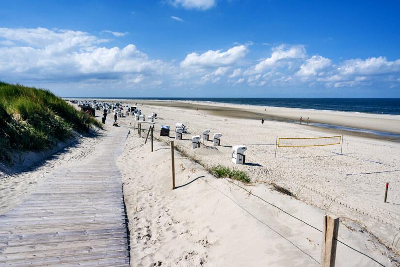 Volleyballfeld am Strand von Spiekeroog