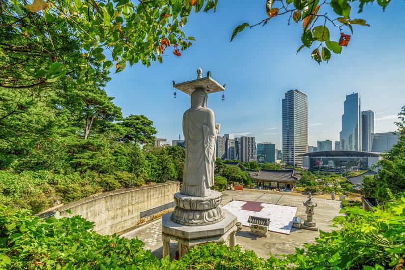 Aussicht vom Bongeunsa Tempel