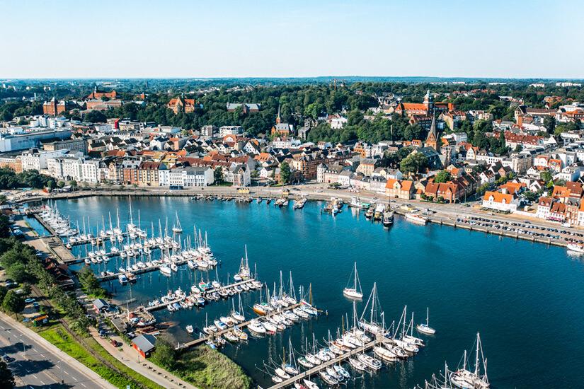 Hafen und Altstadt von Flensburg