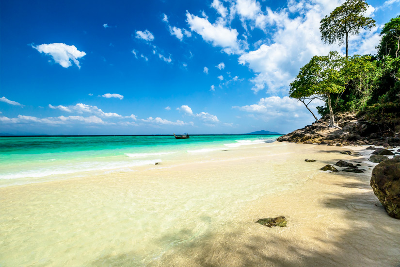 Strand auf Bamboo Island