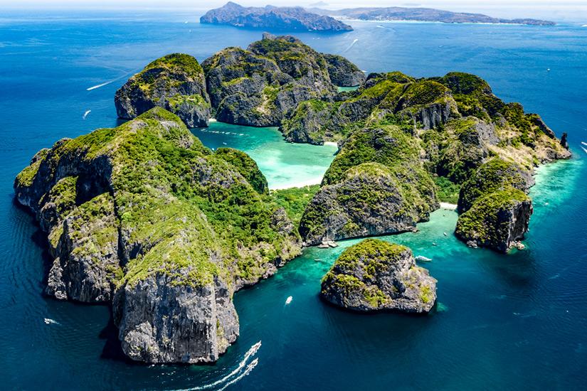 Koh Phi Phi Leh aus der Vogelperspektive