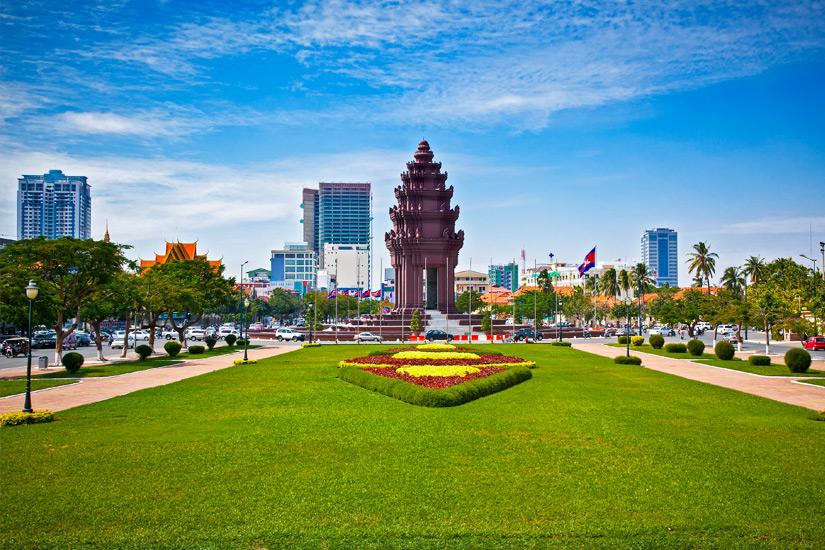 Unabhaengigkeitsdenkmal in Phnom Penh