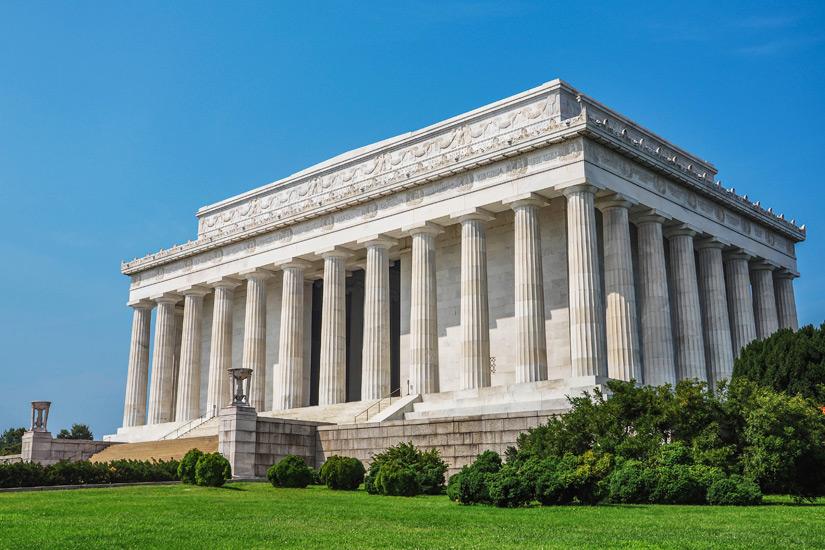 Sieht aus wie ein Tempel das Lincoln Memorial
