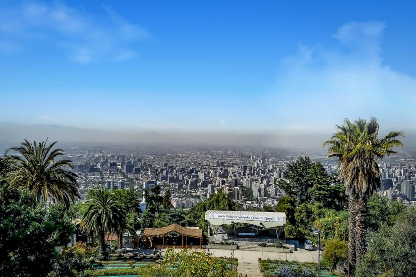 Santiago de Chile vom Cerro San Cristobal aus