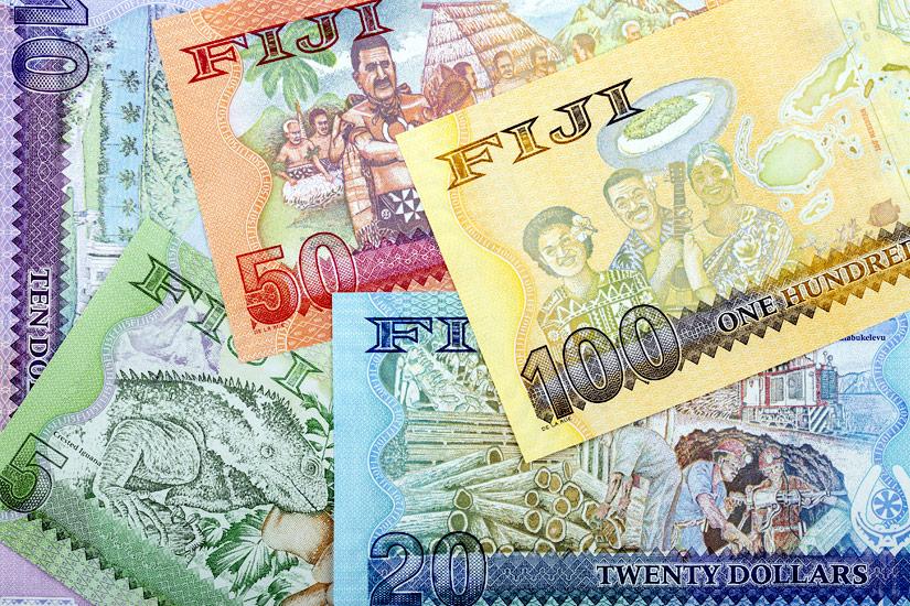 Bunte Fidschi Dollars