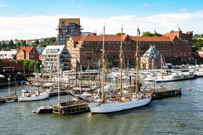 Segelboote-Hafen-Goeteborg