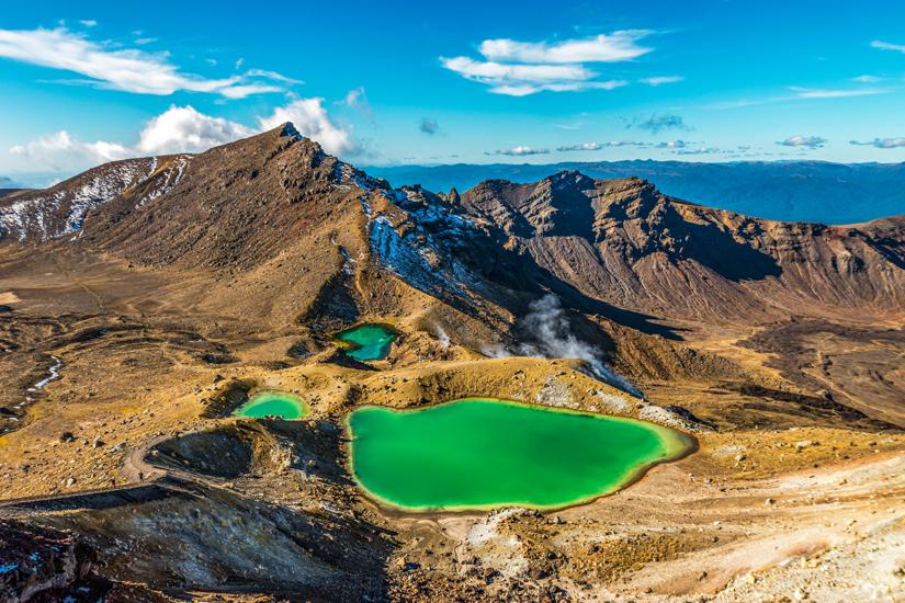 Seen und Berge im Tongariro National Park