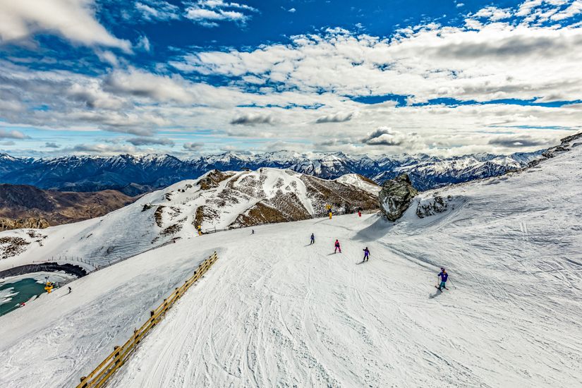 Skifahren im Coronet Peak Ski Resort