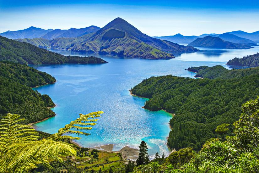 Fjordlandschaft in Neuseeland