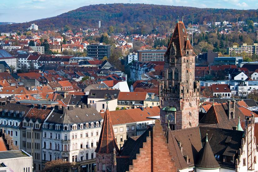 Vom Rathausturm nach Frankreich gucken