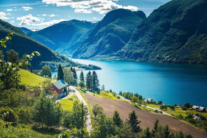 Aurlandfjord-Norwegen