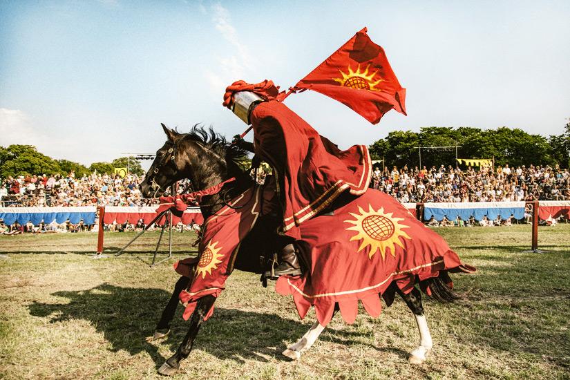Reiter auf der Mittelalterwoche Medeltidsveckan
