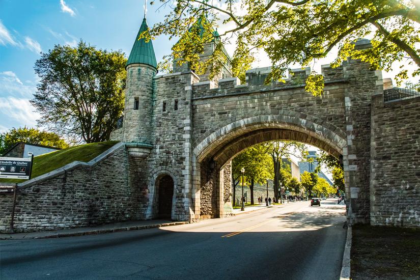 Tor in der Stadtmauer von Quebec