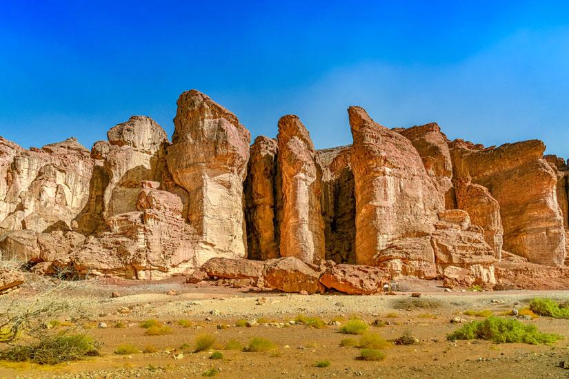 Markante-Felsformation-im-Timna-Nationalpark
