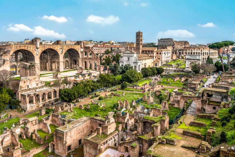 Antike-Ruinen-auf-dem-Forum-Romanum